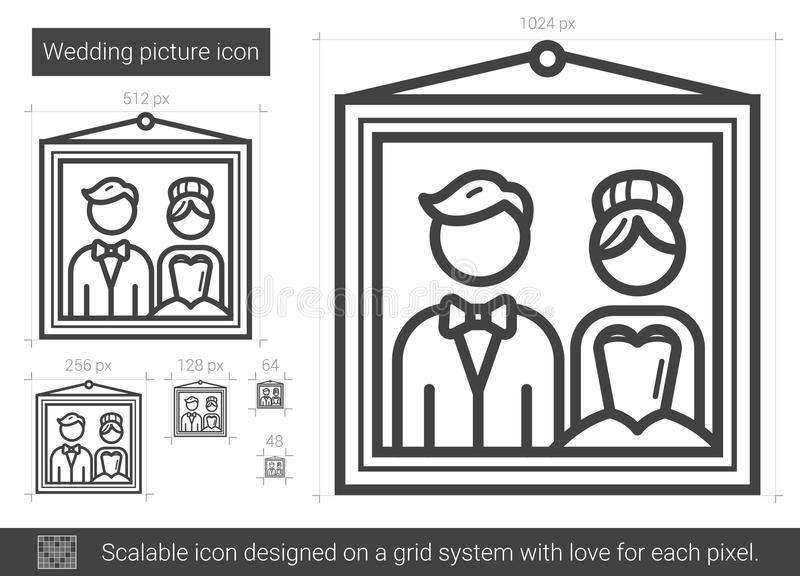Linea di immagine di nozze icona royalty illustrazione gratis