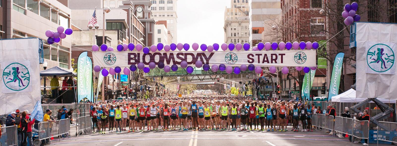 Linea di partenza 2014 di Bloomsday fotografia stock libera da diritti