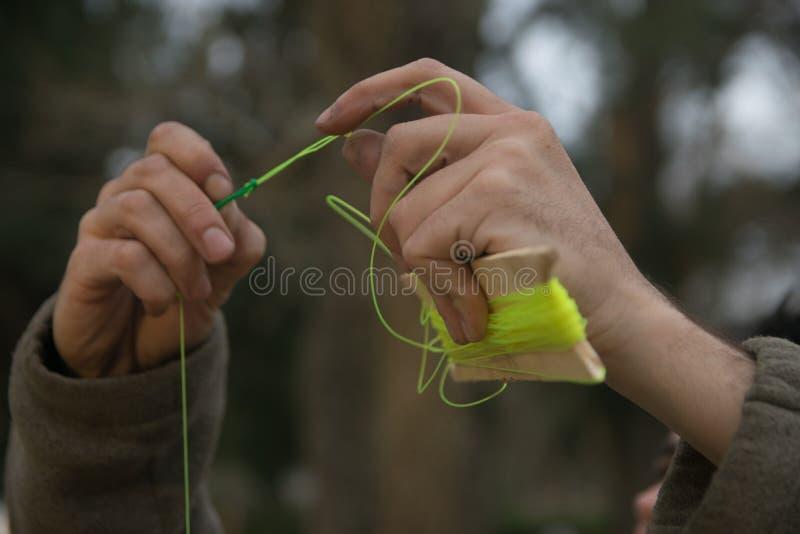 Linea di pesca fotografie stock