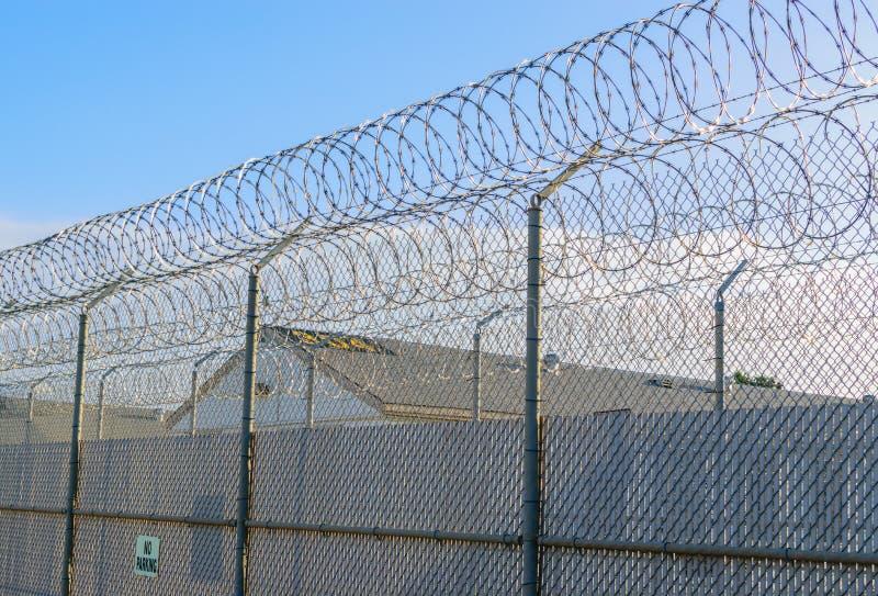 Linea di recinzione della prigione immagine stock libera da diritti