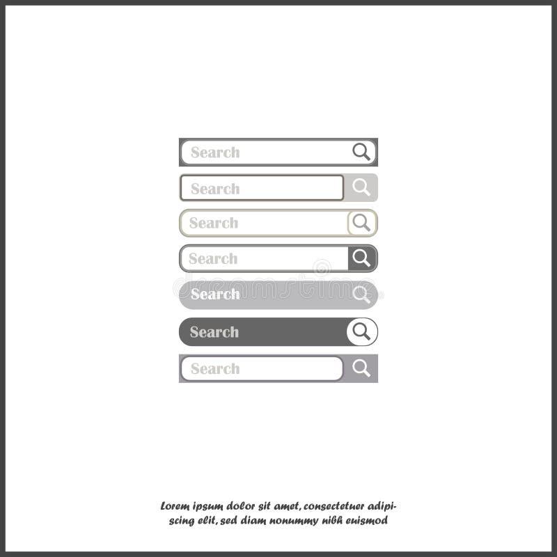 Linea di ricerca Immagine di vettore, elemento per progettazione Metta la barra di ricerca per progettazione su fondo isolato bia royalty illustrazione gratis