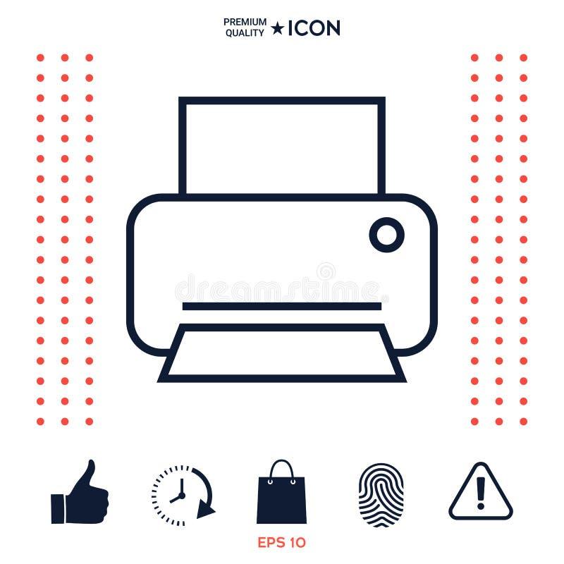 Download Linea di stampa icona illustrazione vettoriale. Illustrazione di figura - 117976449