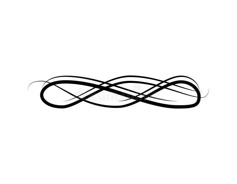 Linea di Swirly, struttura d'annata, decorazione della pagina Modello floreale del confine dell'incisione dell'ornamento del roto royalty illustrazione gratis
