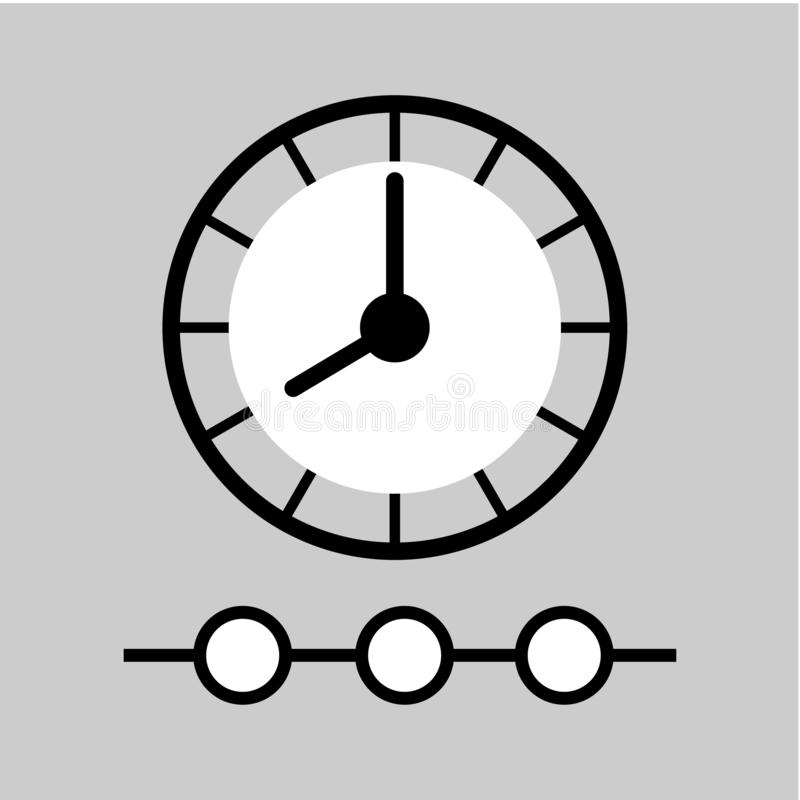 Linea di tempo icona Segno della gestione di tempo royalty illustrazione gratis