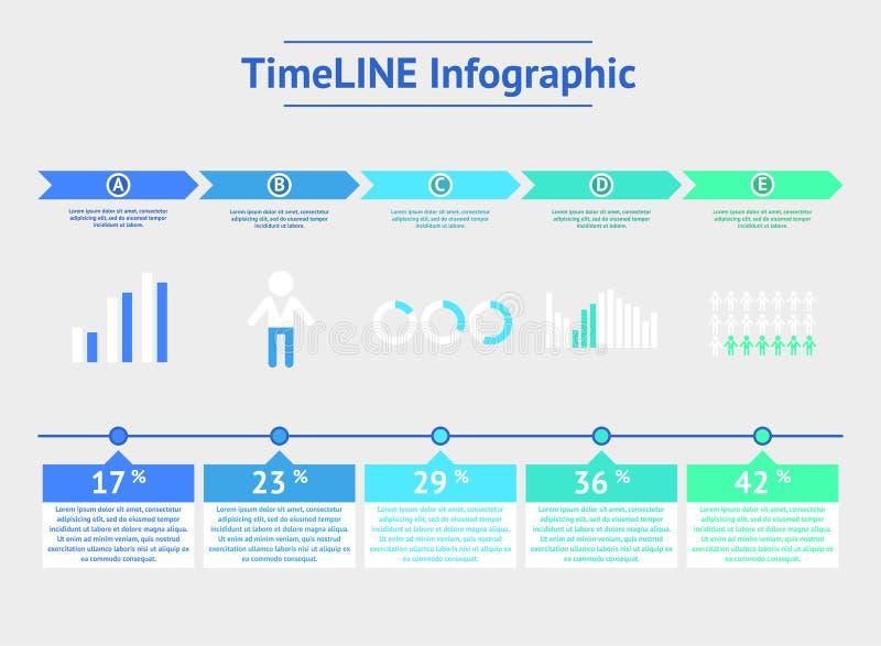 Linea di tempo infographic Illustrazione di vettore illustrazione di stock