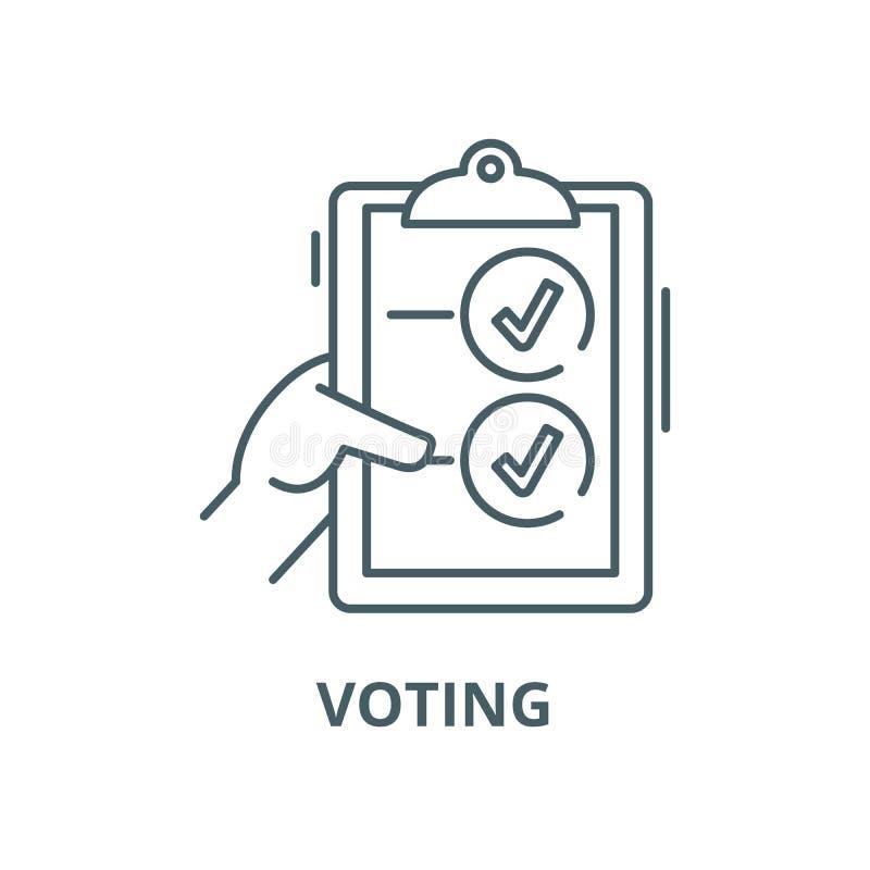 Linea di voto icona, concetto lineare, segno del profilo, simbolo di vettore royalty illustrazione gratis