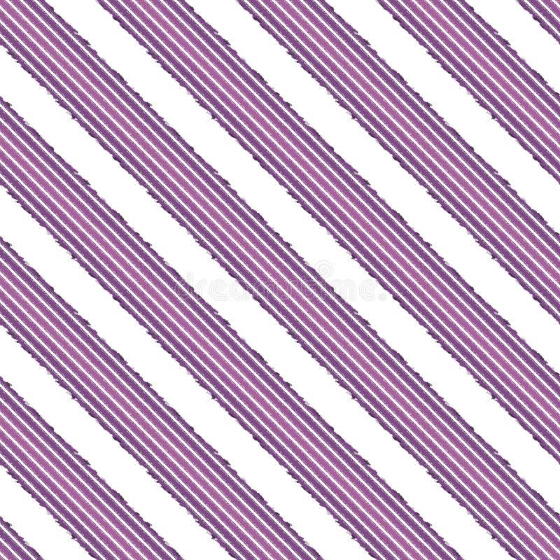 Linea diagonale modello della banda senza cuciture, retro illustrazione di stock
