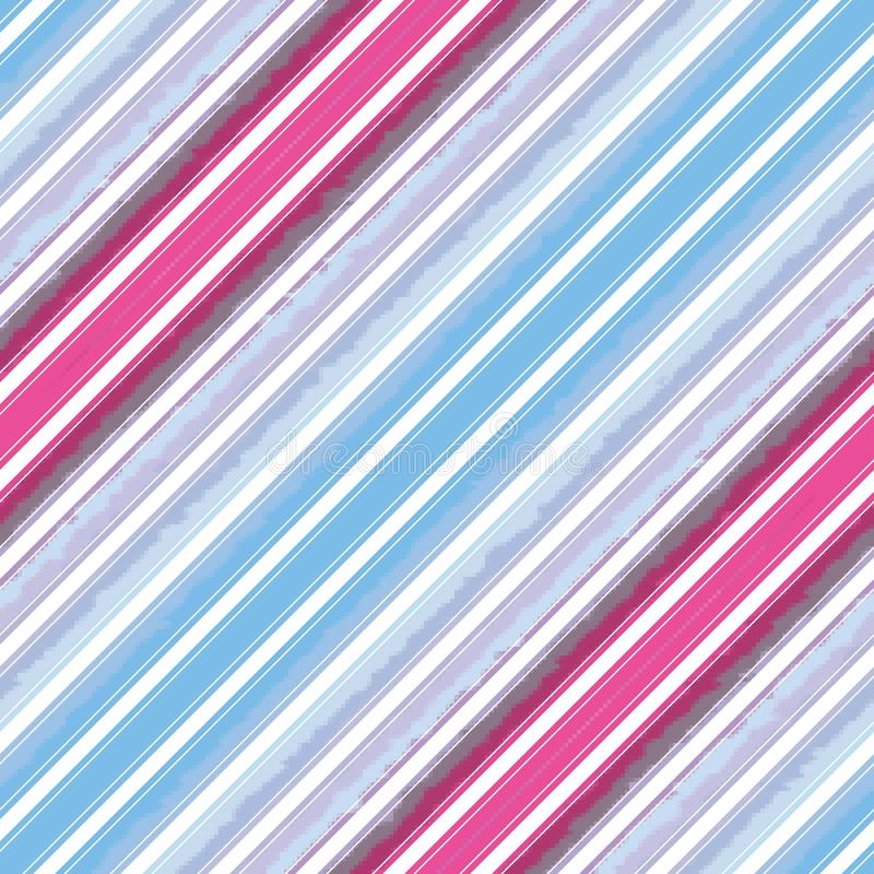Linea diagonale modello senza cuciture, struttura della banda barrata illustrazione vettoriale