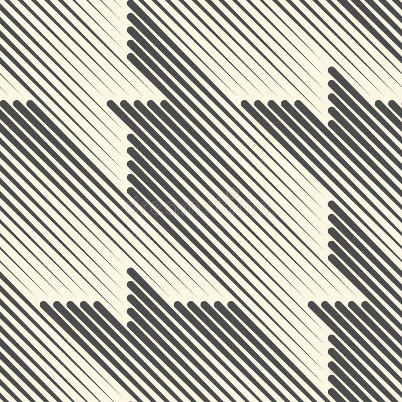 Linea diagonale senza cuciture progettazione Fondo di semitono dell'ornamento illustrazione di stock