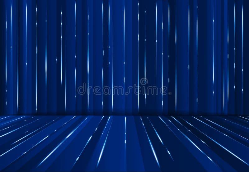 Linea digitale fondo blu scuro del lazer di Abstrac di prospettiva della matrice della fantascienza royalty illustrazione gratis