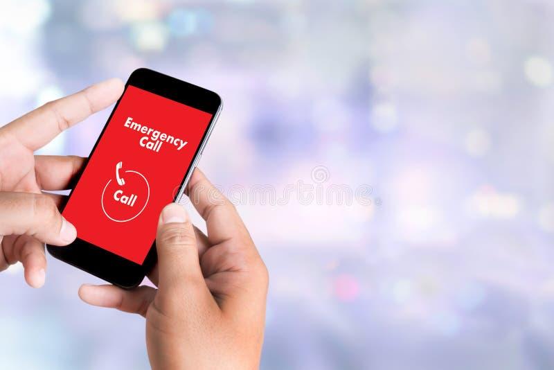Linea diretta accidentale urgente di servizio della call center di emergenza medica fotografia stock
