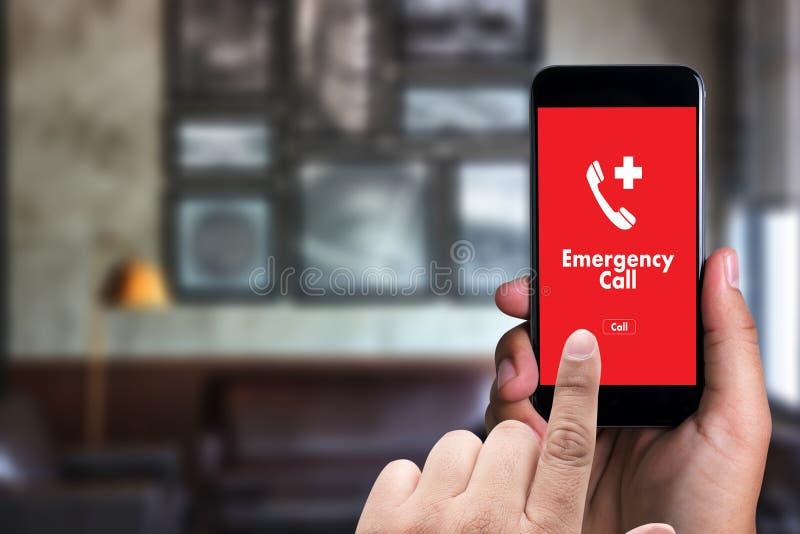 Linea diretta accidentale urgente di servizio della call center di emergenza medica immagine stock libera da diritti