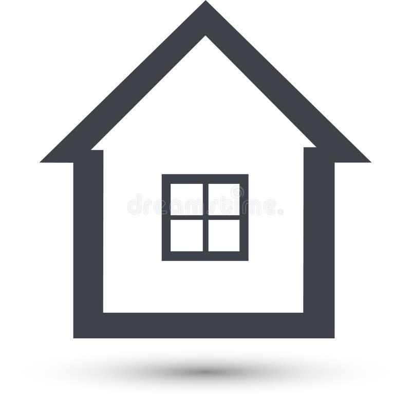 Linea domestica icona di vettore Simbolo della Camera illustrazione di stock