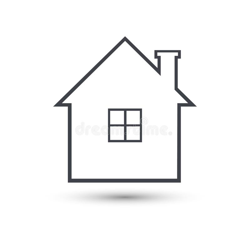 Linea domestica icona di vettore Simbolo della Camera illustrazione vettoriale