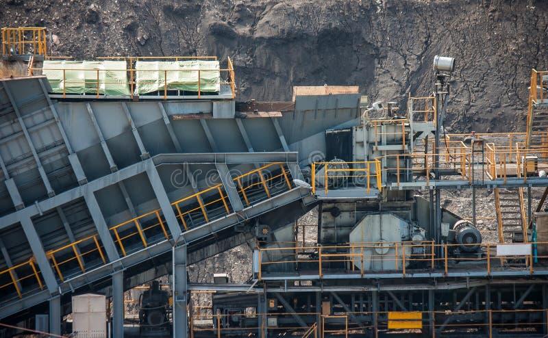 Linea elaborare del trasporto di carbone fotografie stock