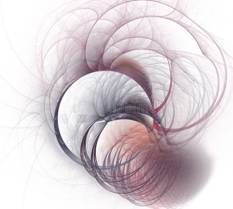 Linea elementi ondulata di turbine dell'estratto fondo d'ondeggiamento Effetto della luce Illustrazione futuristica illustrazione vettoriale