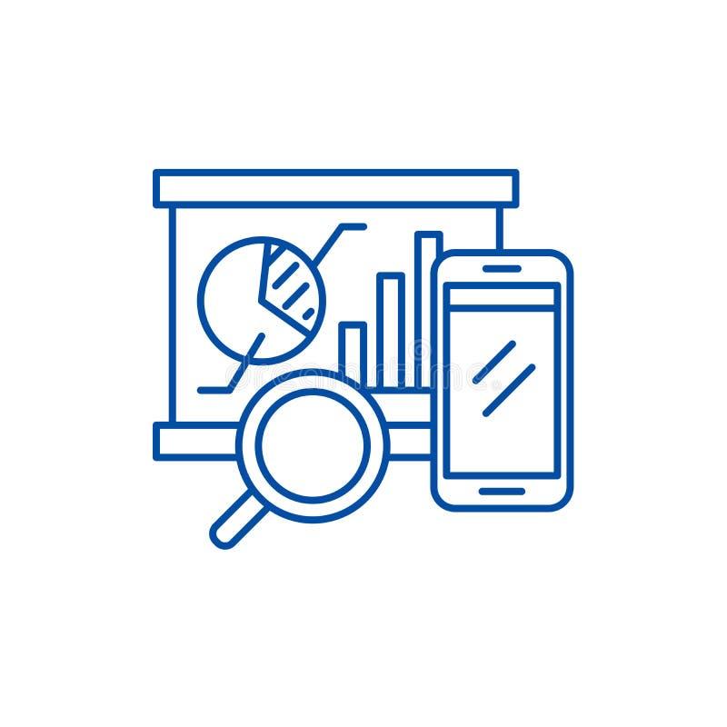 Linea equilibrata concetto dei segnapunti dell'icona Simbolo piano equilibrato di vettore dei segnapunti, segno, illustrazione de illustrazione di stock