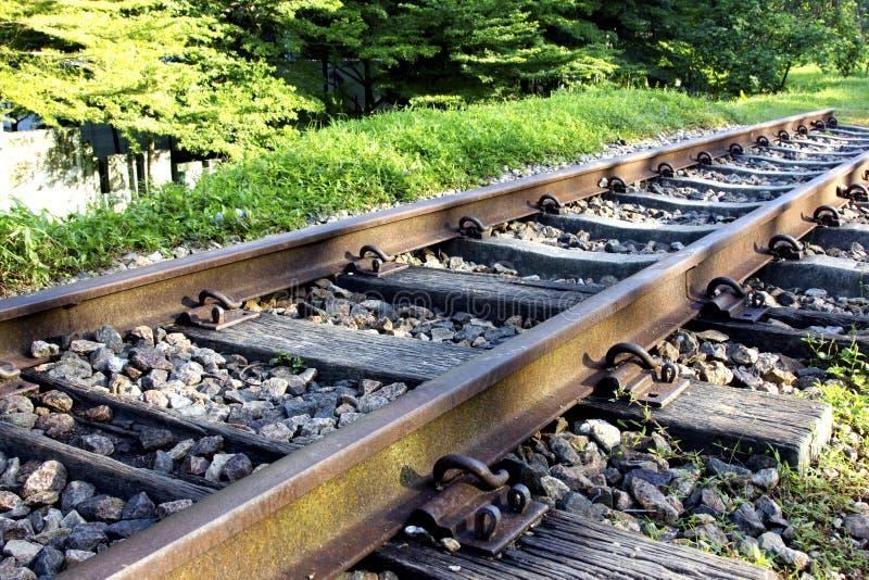 Linea ferroviaria fotografie stock libere da diritti