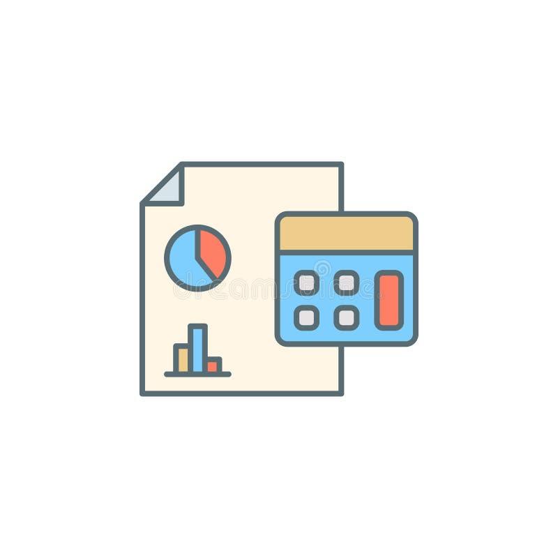linea finanziaria icona di stile di crepuscolo di rapporto Elemento dell'icona di attività bancarie per i apps mobili di web e di illustrazione vettoriale
