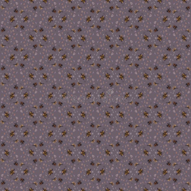 Linea fiori su un fondo grigio illustrazione vettoriale