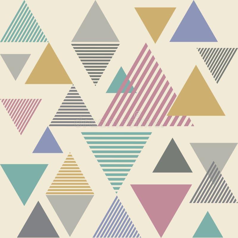 Linea fondo del triangolo dell'estratto della banda - saturi il tono di colore illustrazione vettoriale