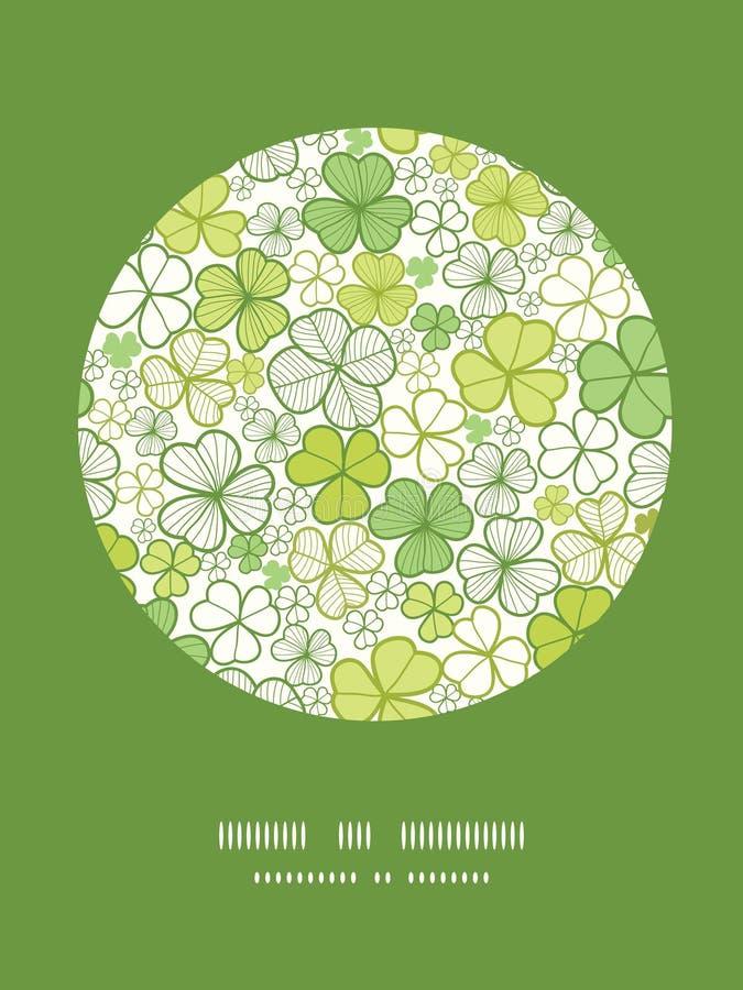 Download Linea Fondo Del Trifoglio Del Modello Della Decorazione Del Cerchio Di Arte Illustrazione Vettoriale - Illustrazione di flora, irlandese: 30827600