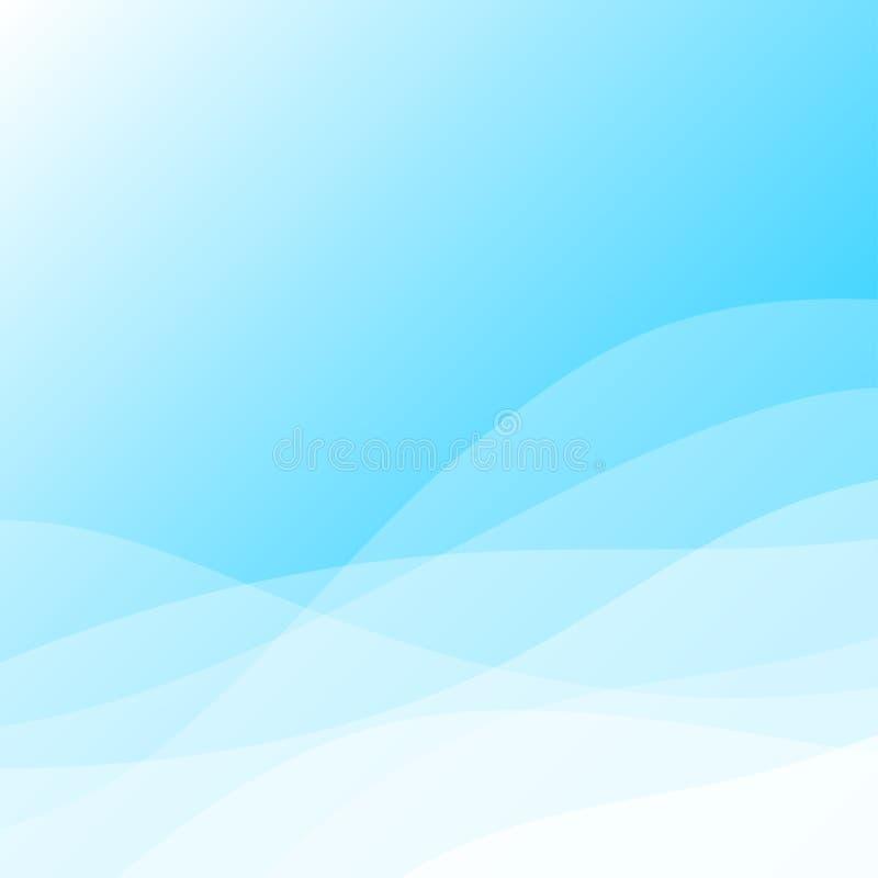 Linea fondo della curva dell'estratto di progettazione di vettore di onda royalty illustrazione gratis