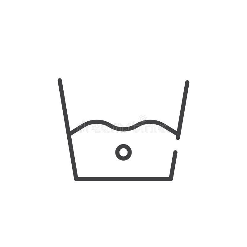 Linea fredda icona del lavaggio royalty illustrazione gratis