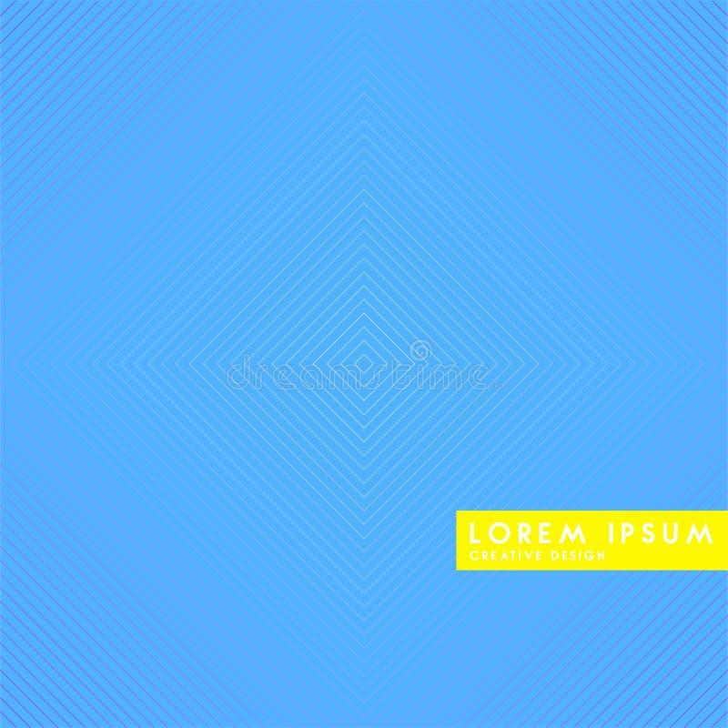 Linea geometrica astratta fondo del modello per progettazione della copertura dell'opuscolo di affari Sedere blu, gialle, rosse,  illustrazione di stock