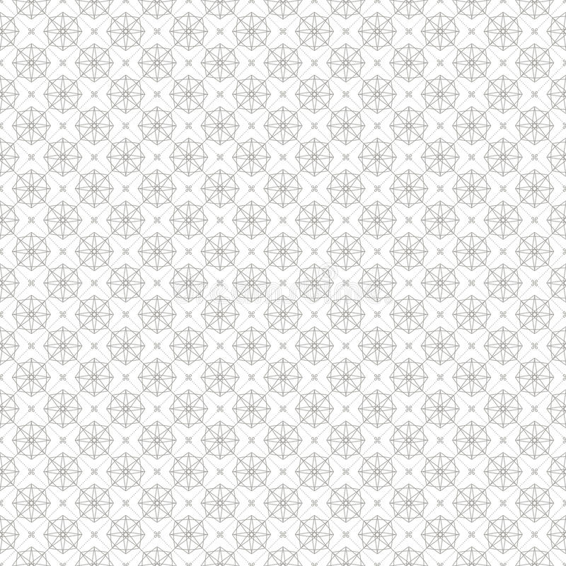 Linea geometrica d'annata fondo senza cuciture del modello royalty illustrazione gratis