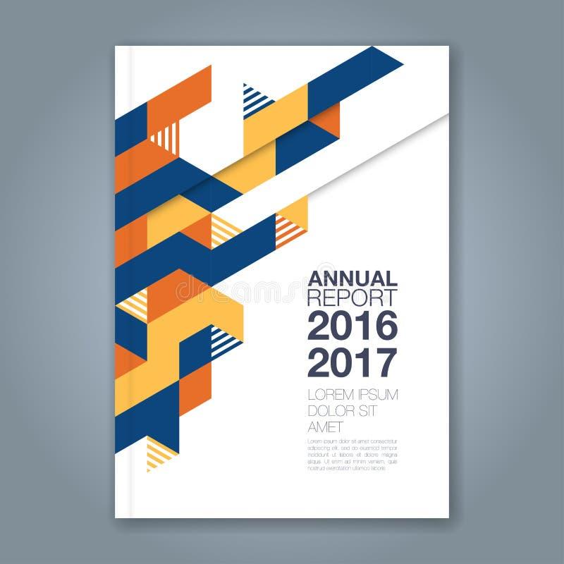 Linea geometrica minima astratta fondo per il libro di rapporto annuale di affari immagine stock
