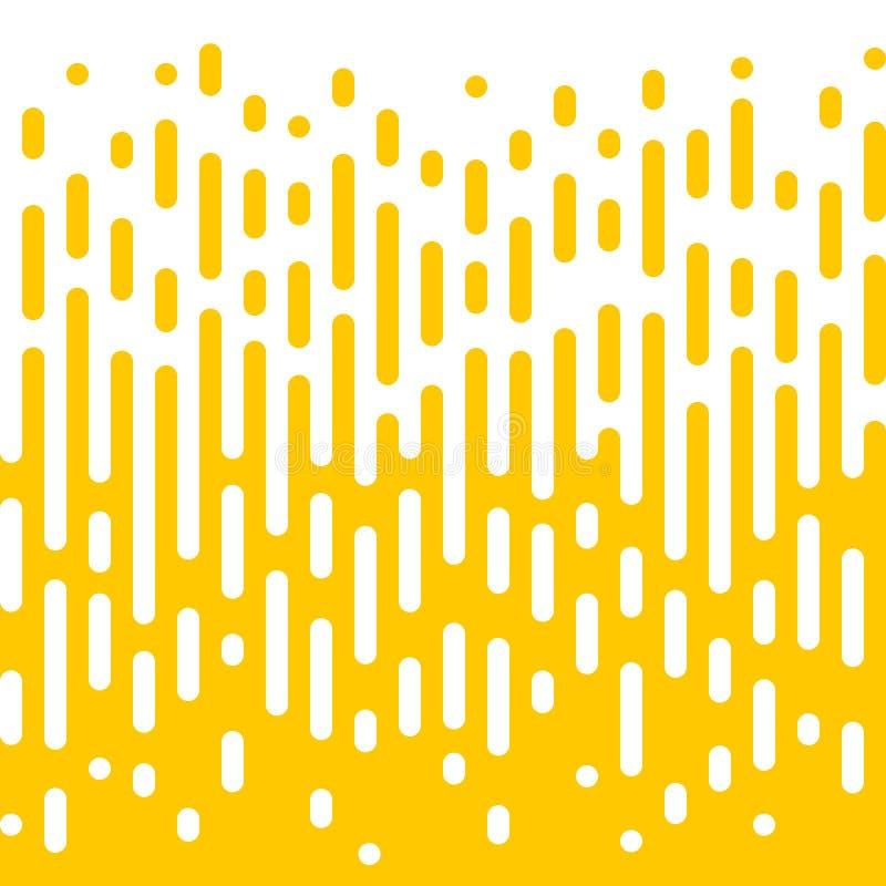 Linea gialla astratta fondo liquido di semitono illustrazione vettoriale