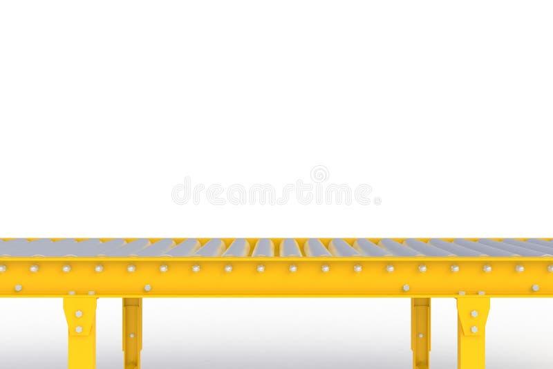 Linea gialla vuota isolata su un fondo bianco, concetto del trasportatore di consegna, per l'esposizione del prodotto royalty illustrazione gratis