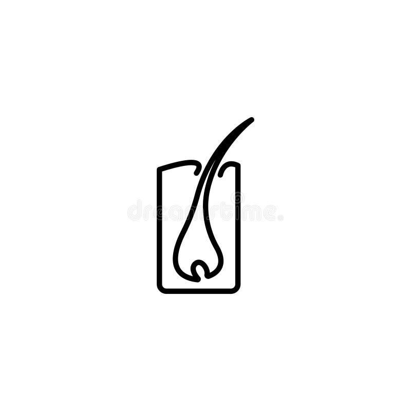 Linea icona Capelli, schema dei capelli illustrazione vettoriale
