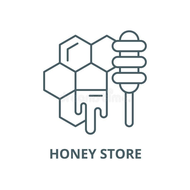 Linea icona, concetto lineare, segno del profilo, simbolo di vettore del deposito del miele royalty illustrazione gratis
