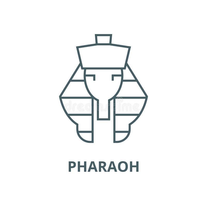 Linea icona, concetto lineare, segno del profilo, simbolo di vettore di faraone royalty illustrazione gratis