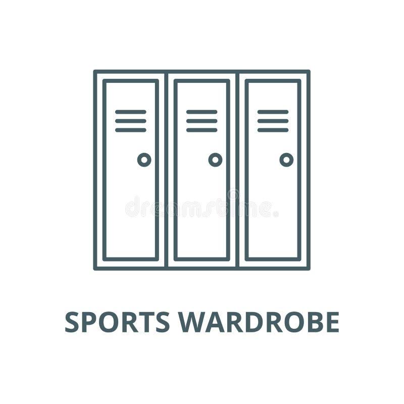Linea icona, concetto lineare, segno del profilo, simbolo di vettore del guardaroba di sport royalty illustrazione gratis