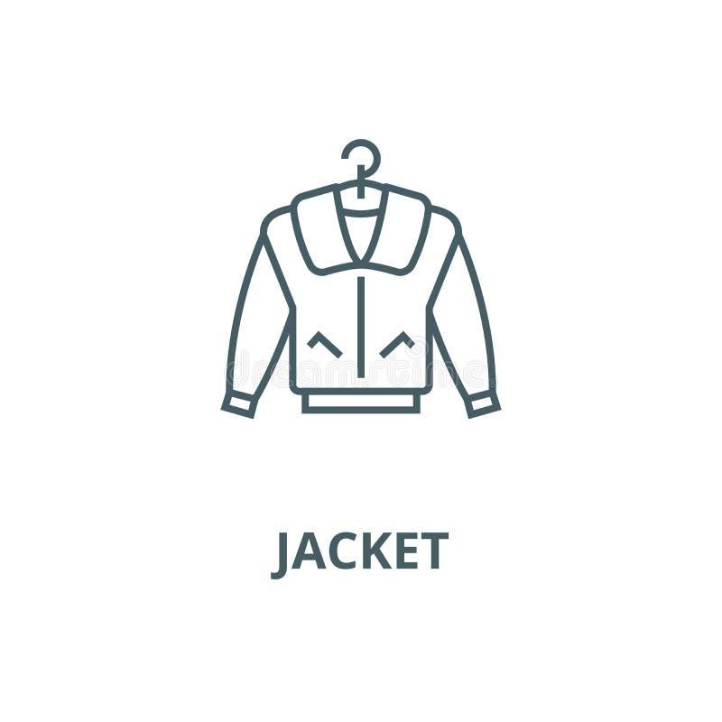 Linea icona, concetto lineare, segno del profilo, simbolo di vettore del rivestimento illustrazione di stock