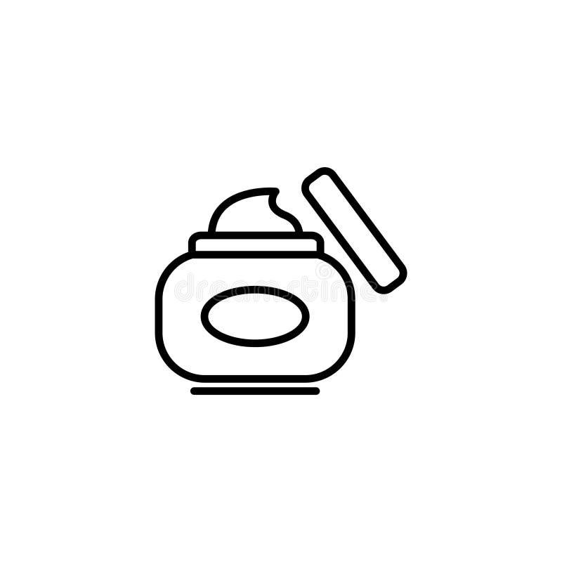 Linea icona Crema per le mani, crema di fronte royalty illustrazione gratis