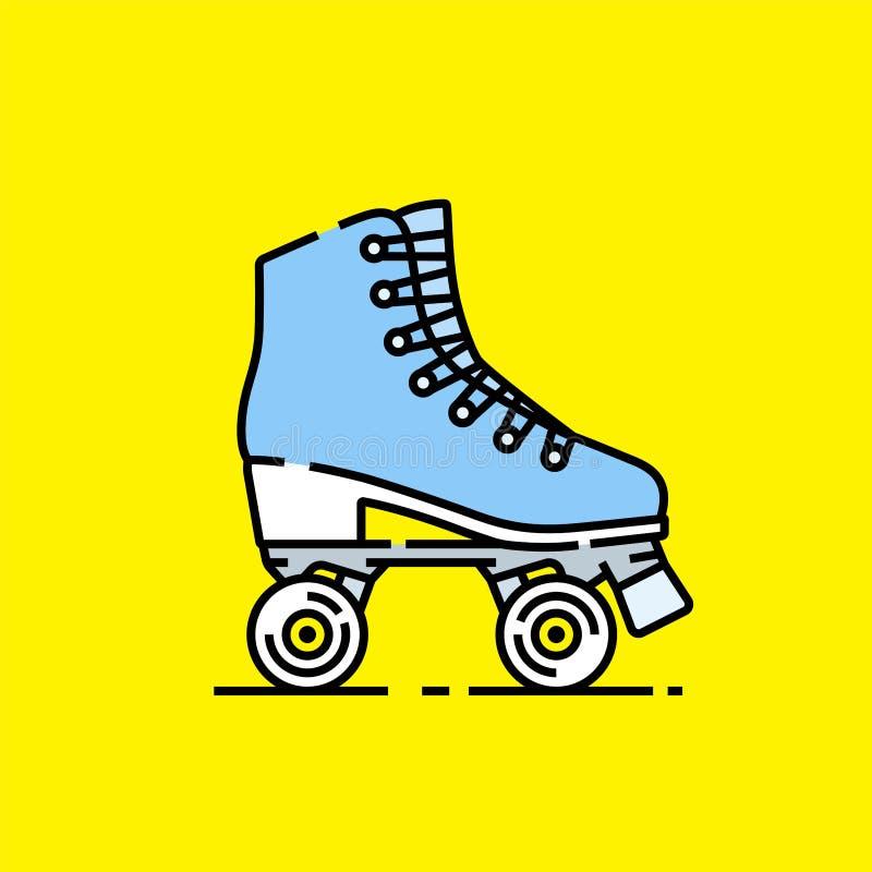 Linea icona dei pattini di rullo royalty illustrazione gratis
