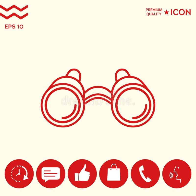 Download Linea icona del binocolo illustrazione vettoriale. Illustrazione di ricerca - 117982196