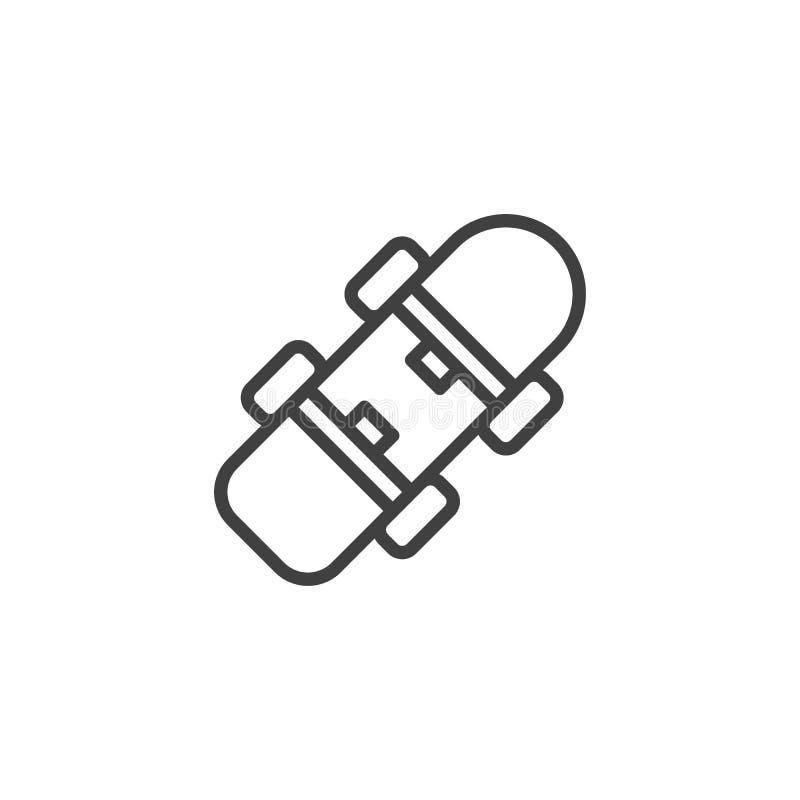 Linea icona del bordo del pattino royalty illustrazione gratis