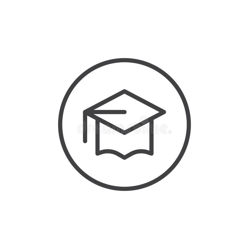 Linea icona del cappuccio del celibe illustrazione vettoriale
