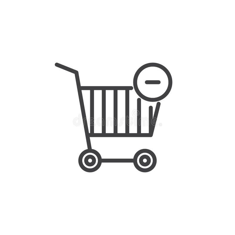 Linea icona del carrello illustrazione di stock