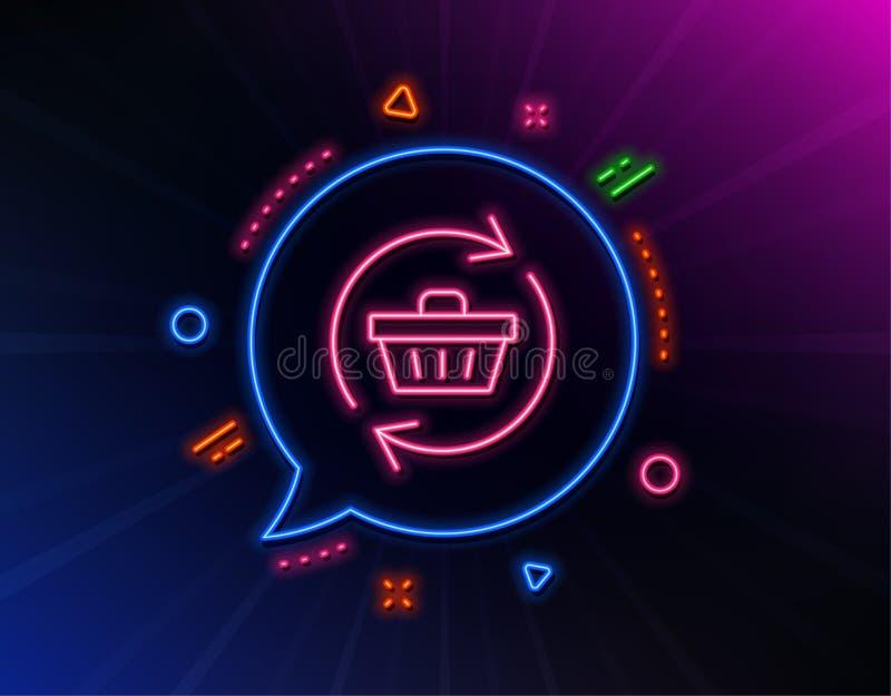 Linea icona del carrello dell'aggiornamento Acquisto online Vettore royalty illustrazione gratis