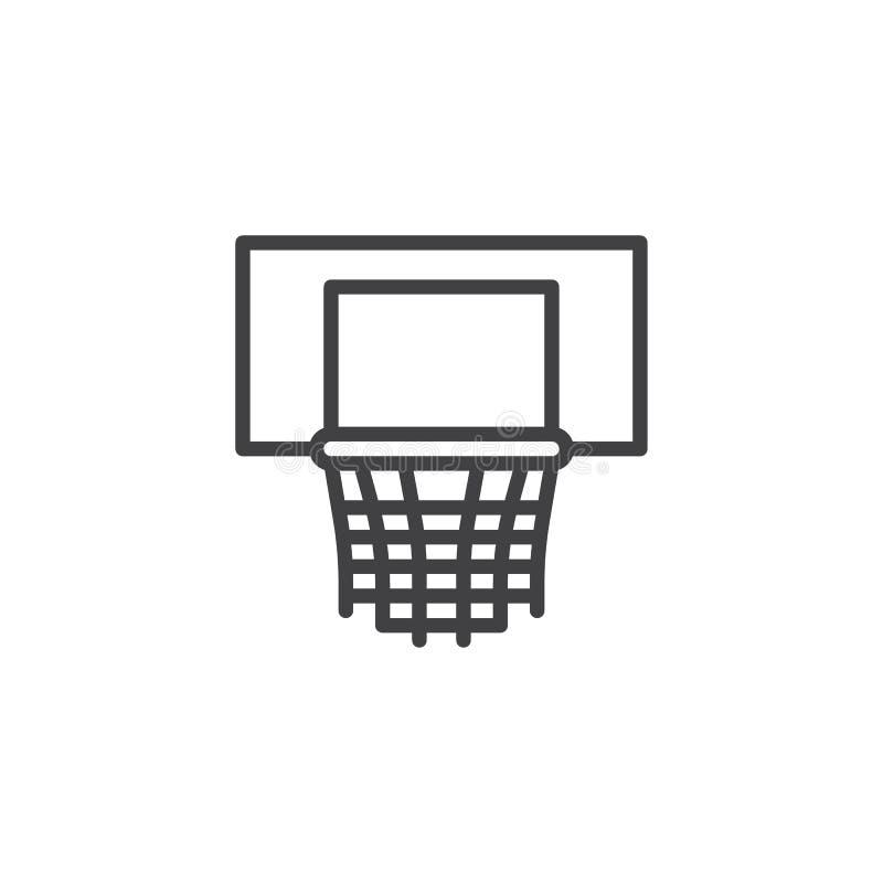 Linea icona del cerchio di pallacanestro illustrazione vettoriale