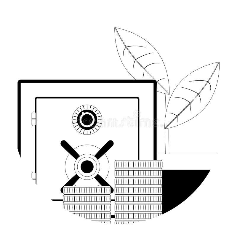 Linea icona del deposito illustrazione di stock