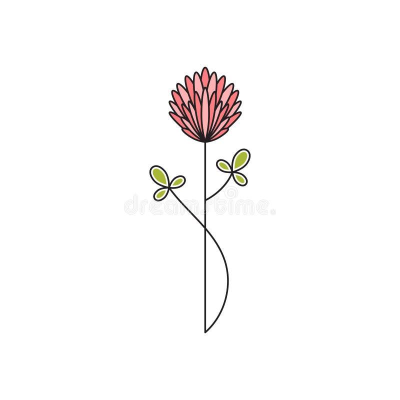 Linea icona del fiore del gambo royalty illustrazione gratis