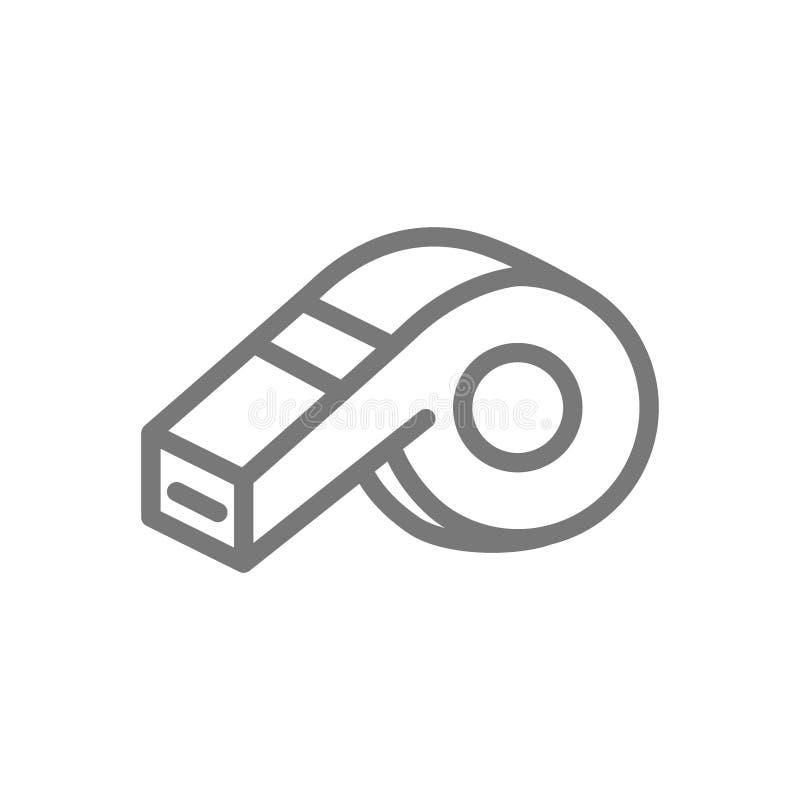 Linea icona del fischio royalty illustrazione gratis
