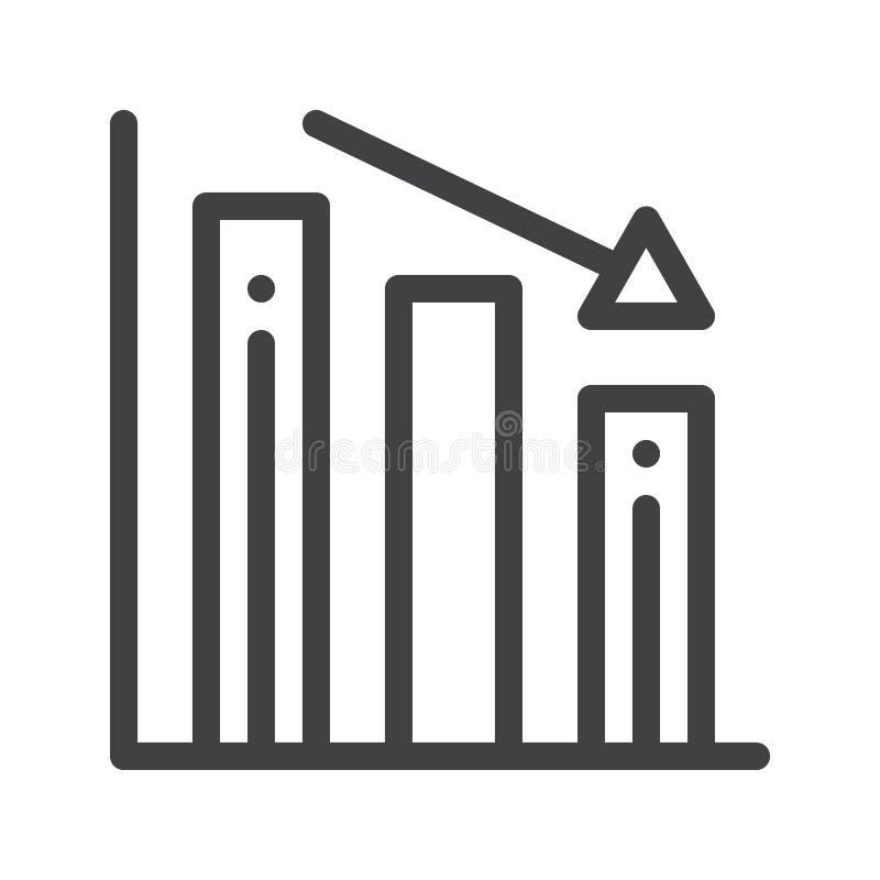 Linea icona del grafico di perdita illustrazione vettoriale